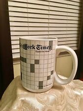 NEW YORK TIMES CROSSWORD PUZZLE LOVERS EXPECT THE WORLD COFFEE MUG CUP