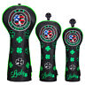 Golf Head Covers Driver Fairway Hybrid Wood Lucky Clover for Taylormade Callaway