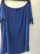Pack Of 2 Bardot Style Tops 12/14 One Yellow One Blue By Be You New In Bags