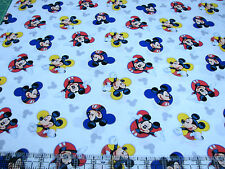 1 Yard Quilt Cotton Fabric- Springs Disney Mickey Mouse the One and Only White