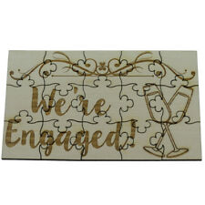 We're Engaged 15 Piece Jigsaw Puzzle - Engraved Wood Engagement Announcement