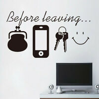 Before Leaving Printed Wall Stickers Self Adhesive Removable Wallpaper Decor D