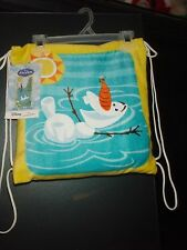 DISNEY Frozen OLAF Beach Towel Tote Bag Set Lot Summer BRAND NEW