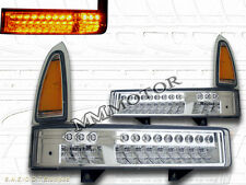 00-05 Ford Excursion / 99-04 Super Duty Front Signal Bumper Lights w/Chrome Lens