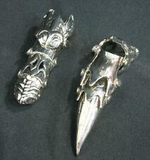 Heavy Chrome Knuckle Joint Full Finger Ring Goth Punk Biker Vintage