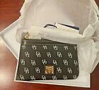 Dooney & Bourke Black Signature Logo Leather Wristlet Wallet - NWT