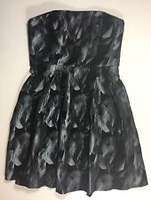 WHITE HOUSE BLACK MARKET - Fit & Flare Knee Length Feather Print Party Dress 12