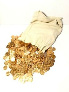 50 x 1967 Elizabeth II GOLDEN HIND Ship Halfpennies Royal Mint Uncirculated #GH1