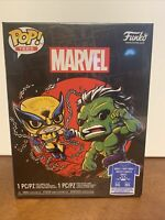 Funko Pop Metallic Wolverine VS Hulk Pop And Tee XXL Target In Hand Sealed New