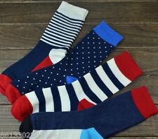 3 Pairs Mens Warm Soft summer cotton Socks GIFT sale Striped cool fashion M01
