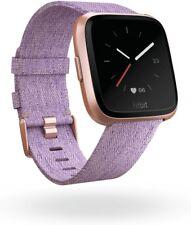 Fitbit Versa Edition lavendel gewobenes Armband Smartwatch NEU OVP