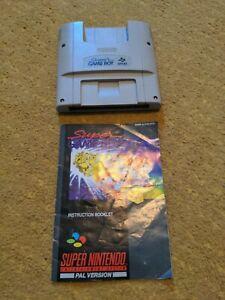 Super Gameboy Super Nintendo SNES Cartridge PAL with instruction booklet