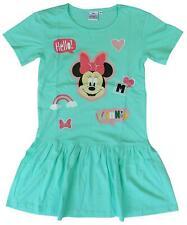 Niña Disney Minnie Mouse Manga Corta Rara Falda Vestido de Verano 2A 7 Años