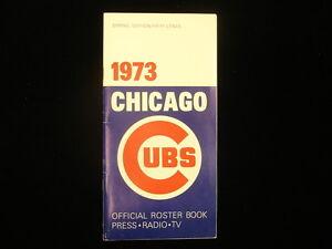 1973 Chicago Cubs Baseball Media Guide