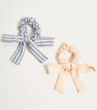 Urban Outfitters 2 Scrunchies Hair Ties Bows Pink Blue