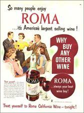 1952 vintage beverage AD ROMA California Port Wine , Fresno CA  100717