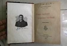 CENTO RACCONTI POPOLARI LUCCHESI NIERI 1908