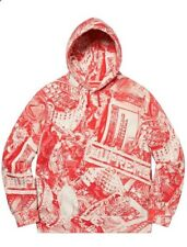 SUPREME red bling hoodie xl