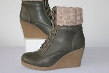 9e254fddf41 MANTARAY LADIES FAB LACE UP ANKLE BOOTS SIZE 37   4