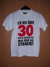 Hanes Fun Shirt über 30 bitte helfen.. Geschenk Geburtstag Partygag weiß S neu