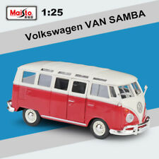 1/25 Volkswagen Red VW 1960s Van Samba Classic Bus Diecast Model Car Collection