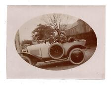 PHOTO Conducteur Garçonne Déguisement Travesti Femme déguisée 1900 Auto Voiture