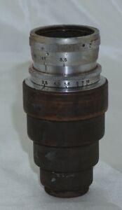 Steinheil Munchen Cassar f3.5 8cm 80mm C Mount Cine Lens