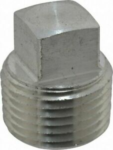 1-1/2 316 Stainless Steel Square Head Pipe Plug 6 Pieces
