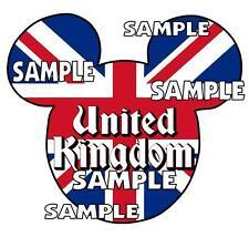 Disney Epcot United Kingdom Mickey Ears Scrapbook Paper Die Cut Piece