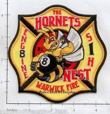 Rhode Island - Warwick Engine 8 RI Fire Dept Patch