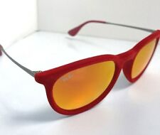Authentic RAY-BAN Erika Red Velvet Sunglasses RB 4171 -  Mirror Lens  NOS w Flaw