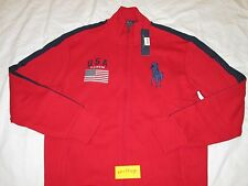 Polo Ralph Lauren Big Pony Track Jacket_USA Flag Patch_Fleece US RL Olympic Men