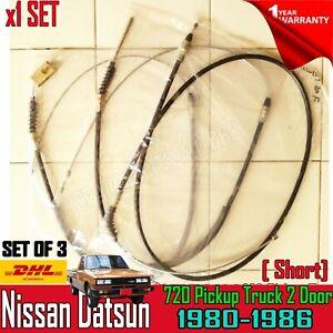 FOR DATSUN 720 1980-86 ( SHORT BED 4 HOOK ) PICKUP SET HAND PARKING BRAKE CABLE