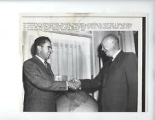 1958 ORIGINAL PRESIDENTS DWIGHT EISENHOWER & RICHARD NIXON PRESS PHOTO