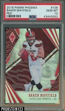2018 Panini Phoenix Red #106 Baker Mayfield Browns RC Rookie /299 PSA 10
