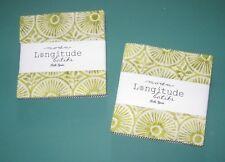 """LONGITUDE BATIKS"" by Moda 2 Charm Packs 40~ 5"" x 5"" 100% Cotton Quilt Fabric"