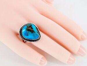 Vintage Kingman Turquoise Ring Size 7 1/2