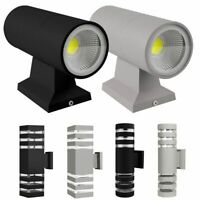 Modern LED Up Down Wall Light Outdoor Porch Waterproof Dual Head Sconce Fixture
