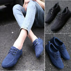 New Fashion Men's Casual Lace Up Loafer Suede Shoes Driving Shoes Flat Sneakers
