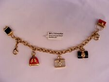 MAGNIFICENT FRENCH 14K YELLOW GOLD LUGGAGE CHARM BRACELET 'MUST SEE'