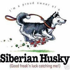 Siberian Husky Funny Tote