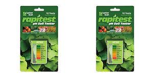 2 LUSTER LEAF 1612 RAPITEST Dirt Soil Plant Garden PH Meter Tester 10 Test Kit