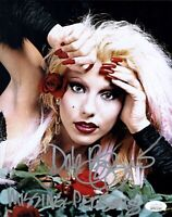 DALE BOZZIO Signed 8x10 Photo MISSING PERSONS Lead Singer Autograph JSA COA WPP