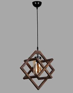 Stunning Wooden Scandinavian style Pendant light RRP £84.99