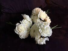 Ivory Large Foam Roses Peonies X 3 Bunches
