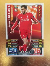 Match Attax Season 15/16 #134 Adam Lallana- Liverpool  FC