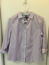 TALBOTS Women's Wrinkle Resistant  3/4 Sleeve Shirt Size 10 Petite NWT
