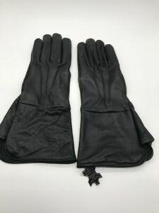 Men's Civil War BLACK Unlined Leather Gauntlets Artillery/Cavalry/Infantry