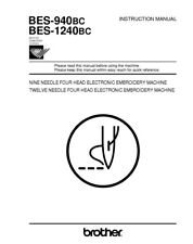 Brother BES-1240BC Embroidery Machine Owners Instruction Manual Reprint