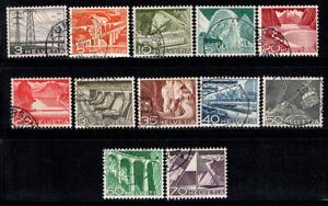 Switzerland 1949 Mi. 529-540 Used 100% landscapes, nature